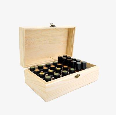 精油收納盒-18格松木收納盒 多功能收納盒 椰子油 香薰精油收納盒_☆找好物FINDGOODS☆