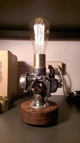 (I LOVE樂多)台灣設計製造CarbuLight化油器情境燈(胡桃木) 氣氛燈 手工裝配