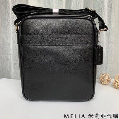 Melia 米莉亞代購 商城特價 數量有限 每日更新 COACH F54782 男士款 荔枝紋 斜背包 郵差包 黑色