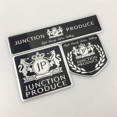 【六號生活館】1 x鋁製JUNCTION PRODUCE徽標汽車汽車裝飾標誌徽章貼紙貼花
