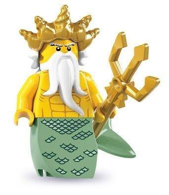 絕版品【LEGO 樂高】玩具 積木/ Minifigures人偶包系列: 7代 8831   海神 + 三叉劍