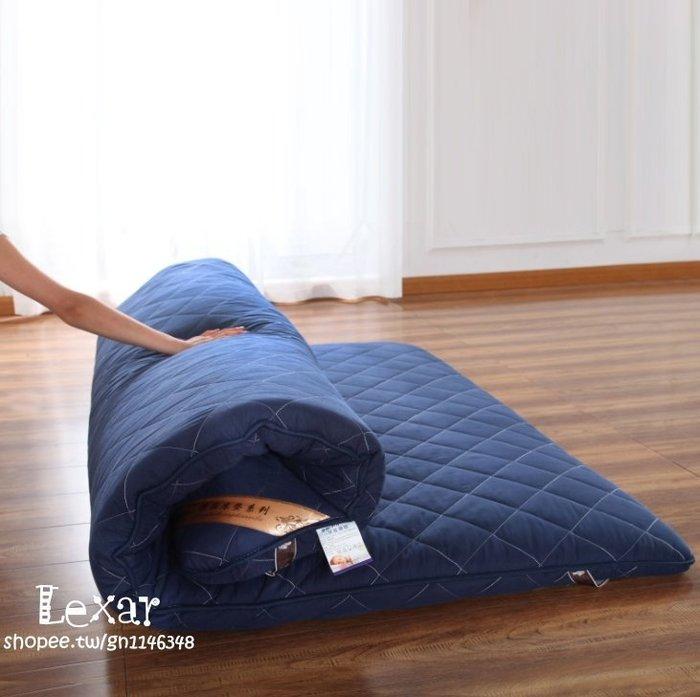 加厚榻榻米床墊8cm 親膚磨毛高回彈三層棉複合可折疊床褥