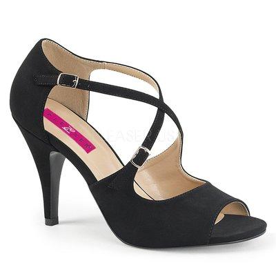 Shoes InStyle《四吋》美國品牌 PINK LABEL 原廠正品磨砂絨高跟涼鞋 有大尺碼 9-17碼『黑色』