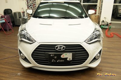 Dr. Color 玩色專業汽車包膜 Hyundai Veloster 車燈保護膜