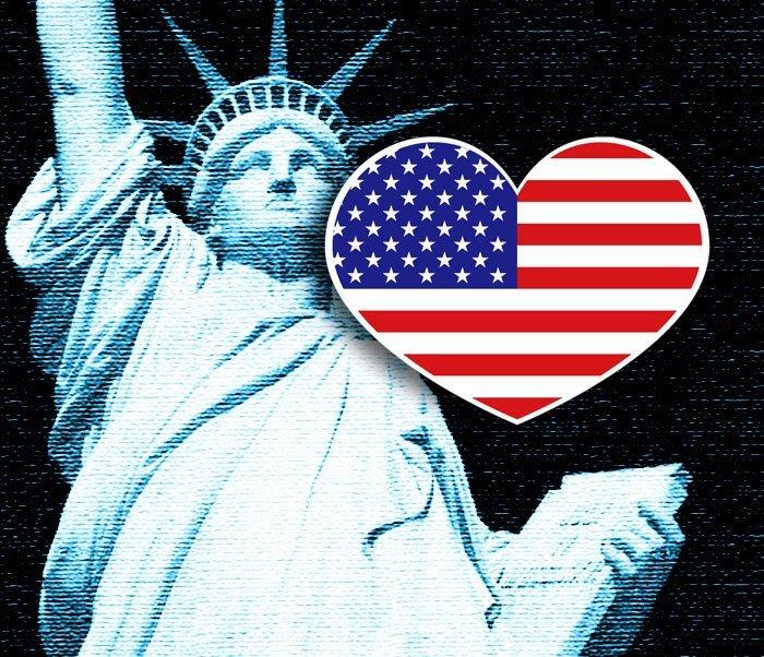 【衝浪小胖】美國愛心形旅行箱貼紙/抗UV防水/USA/多國款可收集和客製