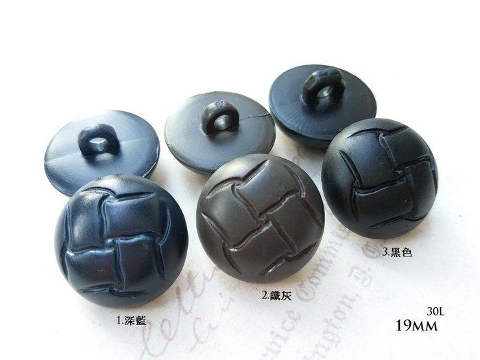 DAda緞帶‧I30299-19mm復古仿皮革半圓球個性鈕扣(自選)2個$10