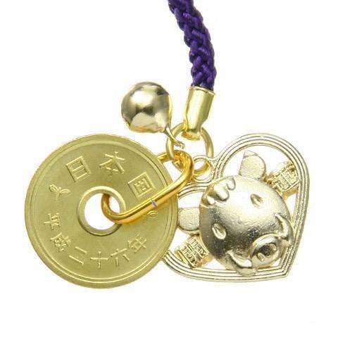 日本正品(現貨R2) - 金豬愛心豬開運吊飾,讓你豬年滿滿的好運氣