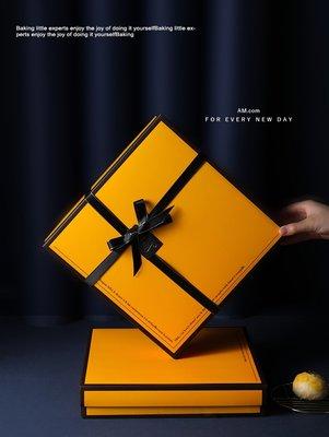 特價出清【M397】愛馬仕風 蛋黃酥8粒裝包裝盒 含提袋❤中秋節月餅盒 鳳梨酥馬德蓮牛軋糖餅乾包裝盒 彌月喜餅回謝禮盒