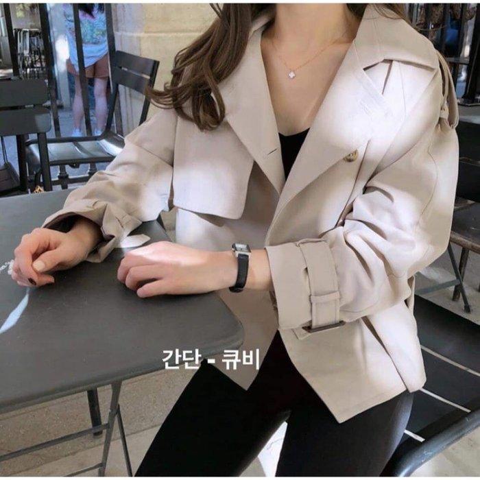 *~fuyumi boutique~*100%正韓 超好看挺版短風衣外套