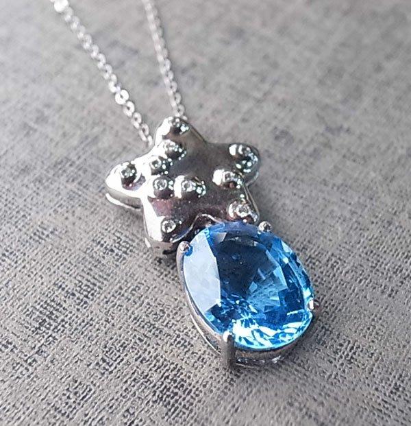 ☆采鑫天然寶石☆ **星願** 珠寶級天然拓帕石/托帕石(Topaz)裸石~瑞士藍Swiss Blue~10.27ct