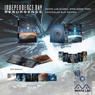 毛毛小舖--藍光BD ID4:星際重生 3D+2D 幻彩限量鐵盒版(中文字幕) Independence Day
