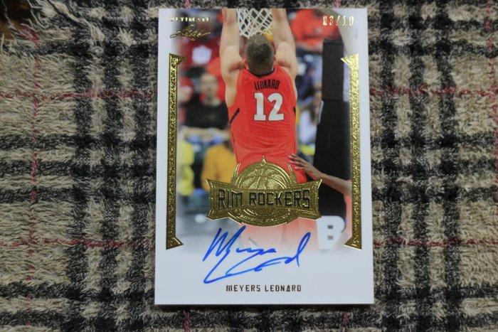 Meyers Leonard 2012 Leaf Ultimate RC 極限量10張 熱火隊高效能中鋒金版新人簽名厚卡