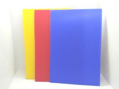 二手未使用共3片PP彩色瓦楞板塑膠瓦楞板顏色亮麗