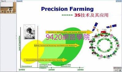 【9420-1006】精密農業基礎(Precision Farming, 3S技術及應用)教學影片-(32講), 336 元!
