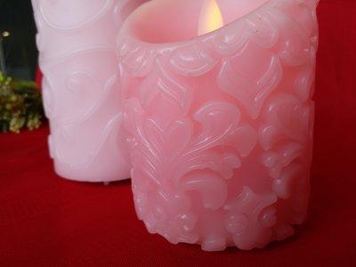 紅牡丹精品館 二手 LED 巴洛克雕刻蠟燭氣氛燈 原價1280 俗俗賣 USB充電  晚餐約會浪漫,情人節  生日禮物