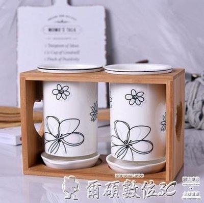 筷子筒陶瓷筷子筒家用瀝水快雙筷筒筷子桶筷子盒韓式收納架置物架筷子籠 【四月上新】