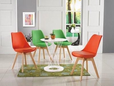 【南洋風休閒傢俱】歐式餐桌椅桌系列 -克林白圓餐桌 迪古PP皮革餐椅