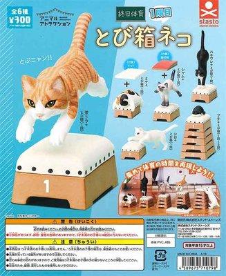【扭蛋屋】動物愛好系列-跳箱貓 《全6款》