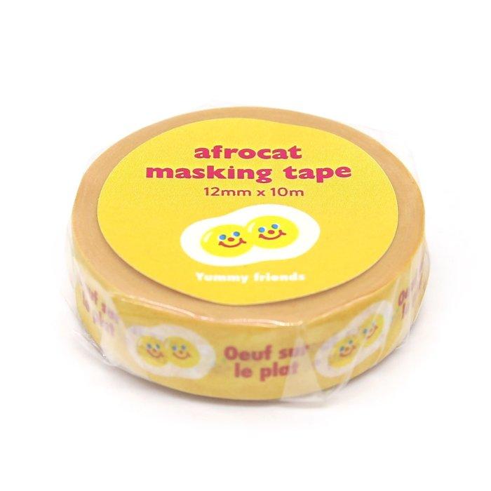 好心情日韓正品雜貨『韓國 afrocat』Masking Tape 和紙膠帶 12mm ~ 2款