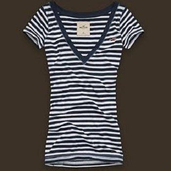 降價大出清!全新美國帶回 Hollister Point Vincente 白底深藍條紋短袖上衣,低價起標無底價!免運費