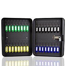 黑色密碼鎖匙箱汽車鑰匙收納盒地產中介鑰匙箱壁掛式鑰匙柜48新款  【奇妙城】