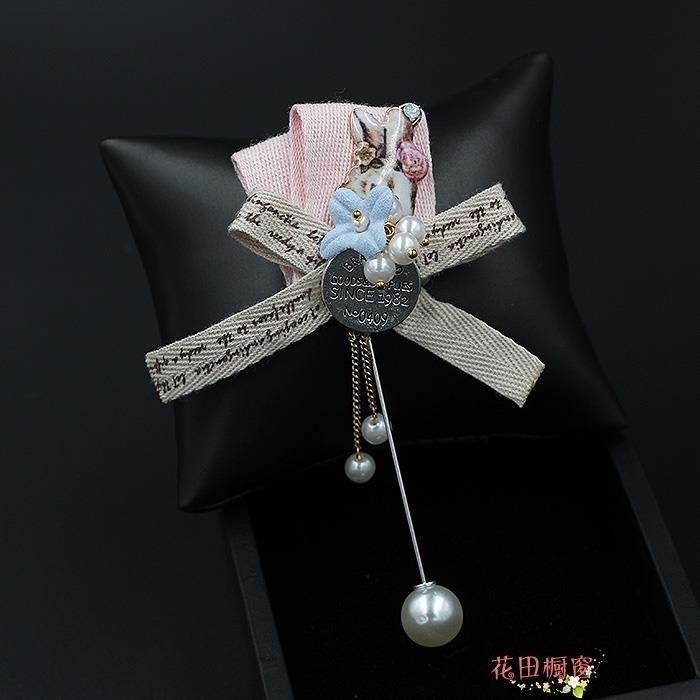 胸針長插針女 甜美蝴蝶結絲巾別針 可愛卡通小動物毛衣配飾品胸花