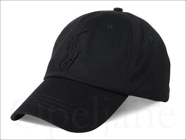 特價真品保證 Polo Ralph Lauren 純棉數字3大馬logo黑色皮扣 復古老帽棒球帽鴨舌帽 愛Coach包包