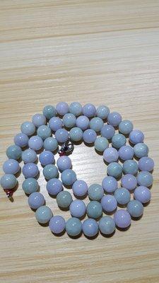 老坑翡翠紫绿交叉珠链