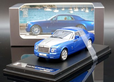 【M.A.S.H】[現貨特價] Rolls 1/64 Rolls Royce Phantom Coupe 水藍/銀