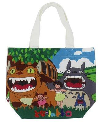 【卡漫迷】 Totoro 龍貓 手提袋  魔鬼氈 餐袋 便當袋 手提包 五月 貓巴士 草壁皋月