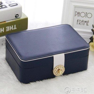 初行公主歐式韓國首飾收納盒雙層簡約首飾盒飾品盒耳環耳釘收納盒  聖誕節免運
