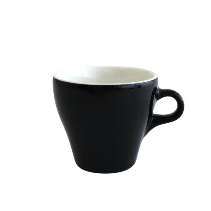 日本ORIGAMI 摺紙咖啡陶瓷 拿鐵杯 250ml (黑色)