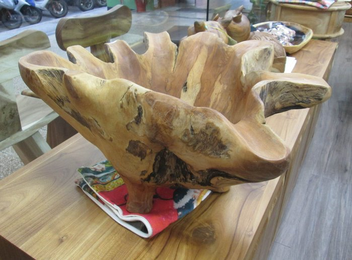 【肯萊柚木傢俱館】自然風格 手工製作 天然 老柚木奇木 收納盤 糖果盤 水果盤