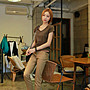 小腳褲 彈力100%純棉顯瘦工裝褲休閒褲九分褲長褲 艾爾莎【TAE8221】