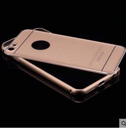 iphone6手機殼 蘋果6手機殼 iphone6 plus金屬邊框 5.5邊框後蓋#905