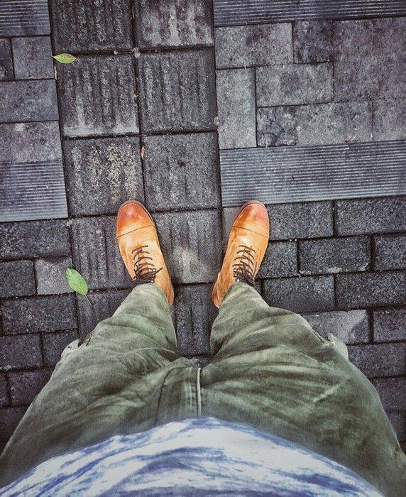 NYCT 韓國熱賣限定原創 高品質 歐美韓星百搭時尚必備磨砂翻毛皮工裝短靴男8113阿美咔嘰手工復古真皮機車馬丁傘兵鞋女