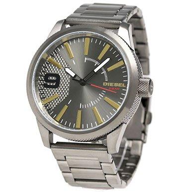 DIESEL DZ1762 手錶 47mm Rasp Gunmetal Dial 鐵灰錶殼 鋼錶帶 男錶女錶