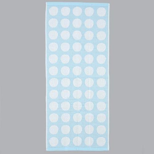 ☆注目の日本製西川原裝進口水藍色無撚紗圓點今治洗臉巾/長毛巾☆