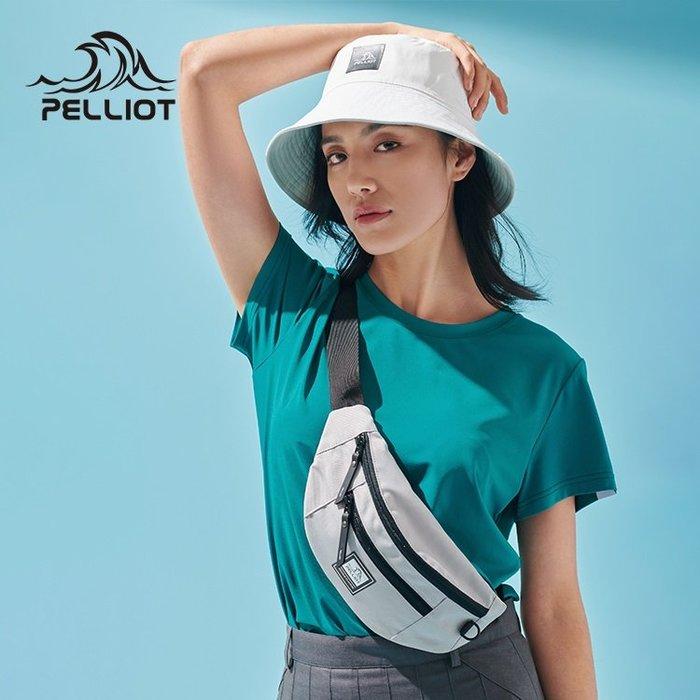 【露西小舖】Pelliot防潑水大容量多功能休閒運動腰包跑步腰包騎行包單肩背包斜肩背包斜跨包手機腰包登山腰包旅遊證件包