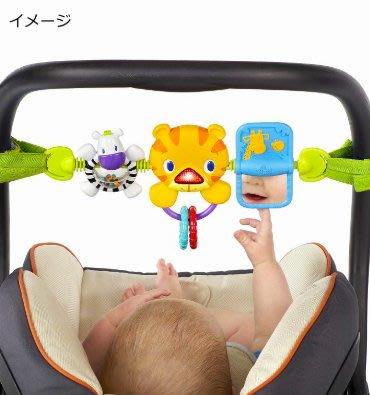 【晴晴百寶盒】bright starts日本進口安撫手搖鈴 嬰兒寶寶手搖鈴 斑馬老虎長頸鹿 益智遊戲 CP值高J019