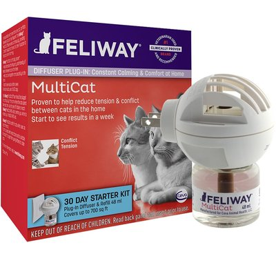 【貓再來小舖】現貨!貓用 多貓版 FELIWAY 貓咪費洛蒙 ~ 1插電座+1補充瓶