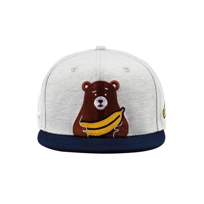 【OTOKO Men's Boutique】OTOKO:香蕉小熊BEAR/灰色/棒球帽