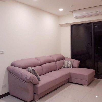 (全新)乾燥玫瑰粉 高級貓抓皮貴妃椅L型大沙發 免運費玫瑰 ikea 宜得利
