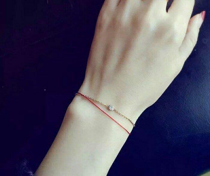 【dear潔菱下標♥】明星同款 紅繩手鍊 鑽石手鍊 K金手鍊 K金項鍊 一路向北 訂製