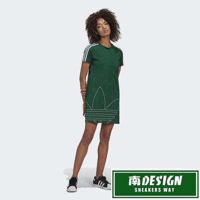 南◇2020 7月 ADIDAS ORIGINALS ADICOLOR 連身裙 GJ6583 綠 白 大LOGO 長版T