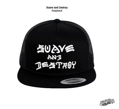 GOODFORIT / 加州Suavecito同名帽款Suave and Destroy Snapback網帽/上翻帽簷