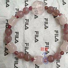 天然粉晶鈴蘭造型手珠