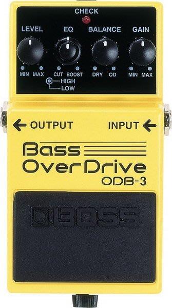 ☆ 唐尼樂器︵☆全新 BOSS ODB-3 Bass OverDrive Bass 貝斯 單顆破音效果器 ODB3