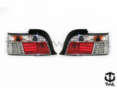 《※台灣之光※》絕版品特價全新BMW 92 93 94 96 95 97年E36 2D 2門LED晶鑽尾燈組出清不保固