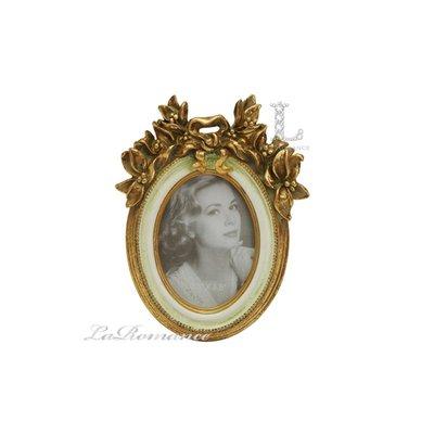 【芮洛蔓 La Romance】金色年華特價系列 - 花之物語橢圓2.5x3.5小相框